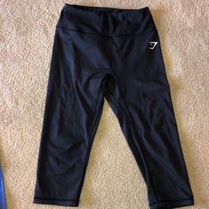 Gymshark black cropped leggings